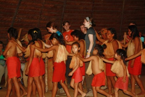 Dancing with the Yagua.  photo credit:  A. Vooris, 2015